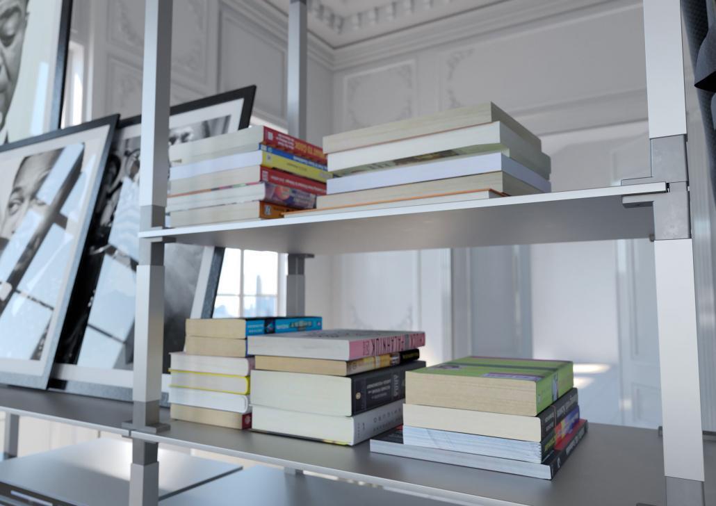 Bücherregal im Altbau-Loft