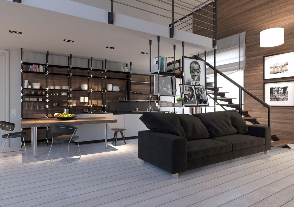 tRACK Wohnküche mit Galerie