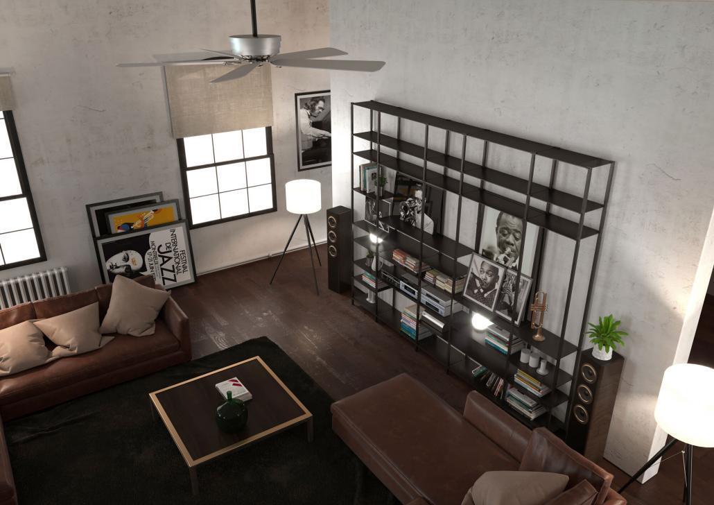 Wandregal im Wohnzimmer
