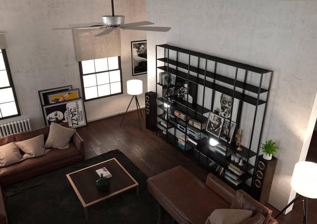 Regalwand für das Wohnzimmer