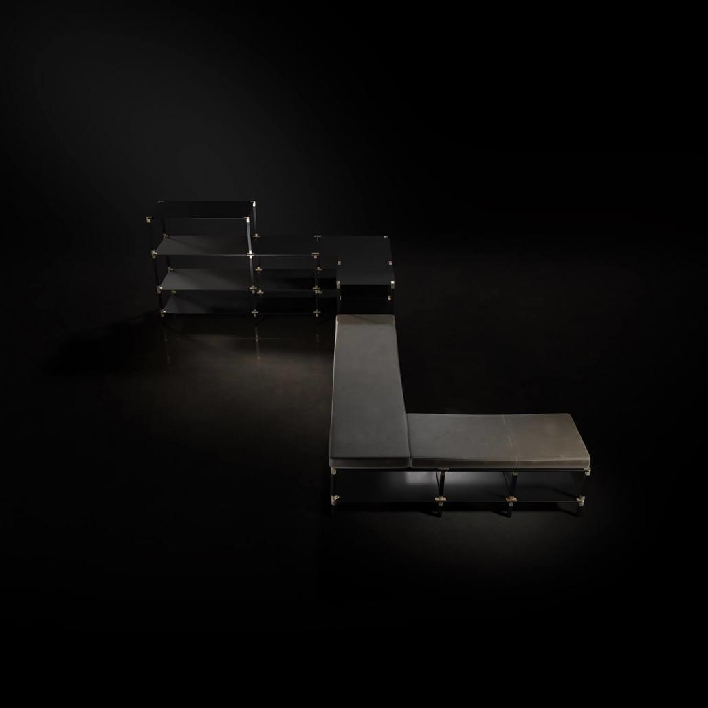 Regal mit Sitzpolster