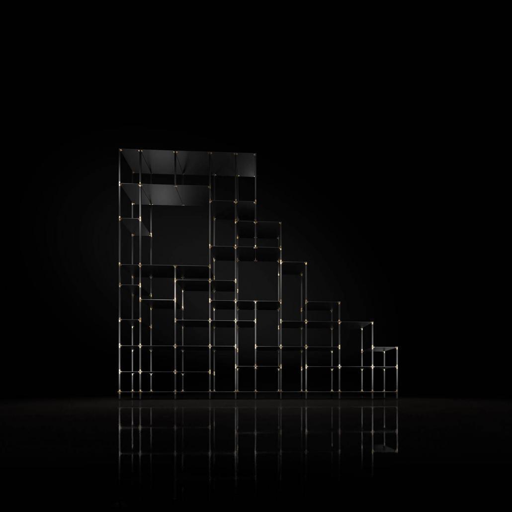 Regal für hohe Wände